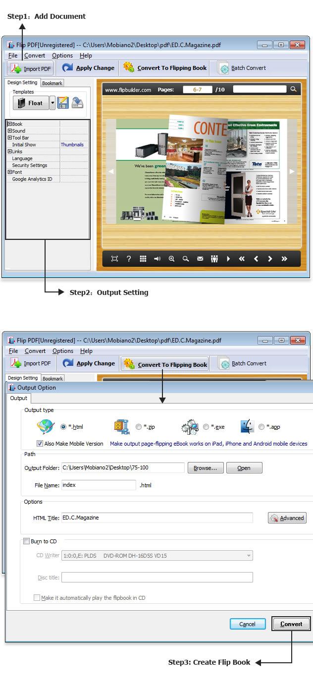 Flip PDF tutorial